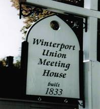 Winterport Union Meeting House Sign